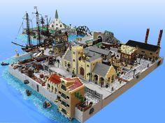 Incredible sprawling Victorian-age LEGO city has a railroad, a church, docks, factories and more | The Brothers Brick | The Brothers Brick