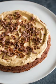 Brownie Cake with Cookie Butter Frosting #cake #brownie #frosting #holiday #baking