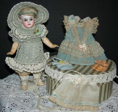 "Tiny 7"" - K * R - #192 - Kammer & Reinhardt - Antique German Doll - Original clothes!! - Perfect Head & Orig Body Finish!!"
