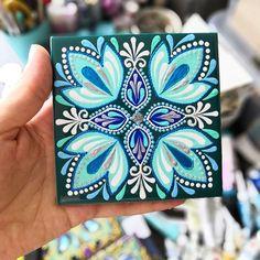 Alina Nureeva's photos Photographs by Alina Nureeva Dot Art Painting, Ceramic Painting, Painting On Wood, Tile Art, Mosaic Art, Tiles, Tribal Pattern Art, Pottery Painting Designs, Paisley Art