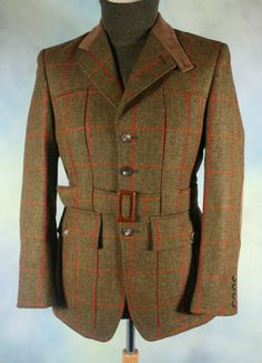 Bookster Gelly Tweed Full Norfolk Jacket. Lord Grantham strolls the estate.