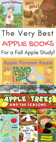 The very best apple books for a fall apple study! Perfect apple books for preschoolers!