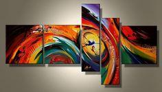 Cuadros Abstractos Modernos Polipticos Coloridos - $ 70.000 en ...