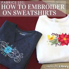 Embroidering on Sweatshirts (PR1284) from www.emblibrary.com