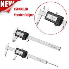Car-styling AUTO 150mm 6inch LCD Digital Vernier Caliper Electronic Gauge Micrometer Measurement july24 #Affiliate