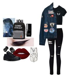 """Female Michael Clifford"" by bubblyashtcn ❤ liked on Polyvore featuring Miss Selfridge, WithChic, Chicnova Fashion, RIPNDIP, Vans, Chanel, Lime Crime, Converse, michael and 5sos"