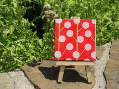 Urban Trees Red on Mini Canvas with matching by cutelittlecanvases, $10.00
