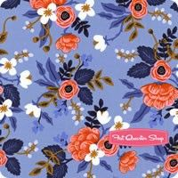 Les Fleurs Periwinkle Birch Yardage SKU# 8003-01 New