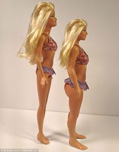The 'average woman' size barbie has a booty! they should sell the these instead of the old barbies.