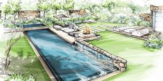 5 Must Know Tips For A Better Looking Landscape Plans Architecture, Landscape Architecture Drawing, Landscape Sketch, Landscape Design Plans, Garden Design Plans, Landscape Drawings, Landscape Illustration, Architecture Design, Yard Design