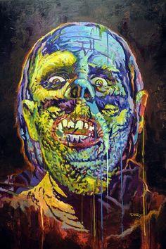 "Creatura 11  36""x48""  Acrylic on Canvas by Luis Diaz"