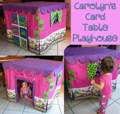 Carolyn's Card Table Playhouse!