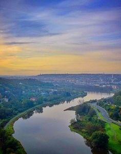 Vltava river from Vyšehrad, Prague, Czechia
