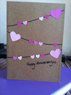 Ideas For Diy Wedding Cards Handmade Ideas – Diy 2020 Wedding Cards Handmade, Handmade Birthday Cards, Handmade Anniversary Cards, Diy Wedding Anniversary Cards, Card Wedding, Aniversary Cards, Diy Birthday, Happy Birthday, New Year Cards Handmade