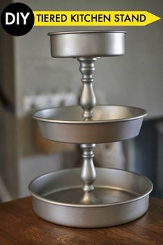 Display all of your delicious appetizers at your next party with this simple DIY Three Tiered Kitchen stand.