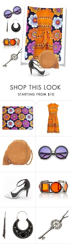 """""""1960's"""" by brandieporter ❤ liked on Polyvore featuring Adele Simpson, Jérôme Dreyfuss, ZeroUV, Calvin Klein, Stephan & Co. and Tiffany & Co."""
