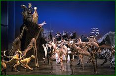 love the lion king costumes. enough suggestive of animal without trying to hard to hide human.
