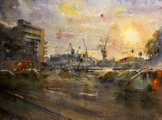 ILTAPÄIVÄ HIETALAHDESSA Watercolor, Cityscapes, Painting, Art, Pen And Wash, Art Background, Watercolor Painting, Painting Art, Kunst