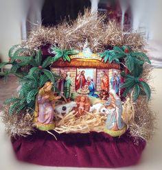 Vintage victorian style Christmas crib nativity scene by VintageShopCreations on Etsy https://www.etsy.com/listing/260261411/vintage-victorian-style-christmas-crib
