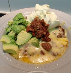 Basic LCHF Mexican Mince - a great low carb, high fat lunch or dinner!