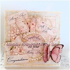 MicheleRDesign: Another Wedding Card - Shabby Pink Charms