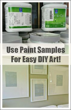 Use paint samples for easy DIY art! Great way to re-purpose those paint samples!