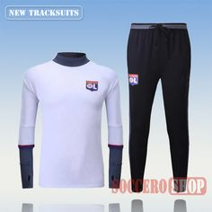Newest Best Mens Olympique Lyon 2016 2017 White Tracksuit Personalised Customised | Thai Edition
