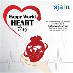 STOP protecting your data, we'll handle it!  Protect your #heart first, because there is no replacement for it ! #HappyWorldHeartDay #Sjain