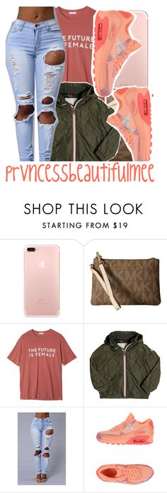""""""""""" by prvncessbeautifulmee on Polyvore featuring MICHAEL Michael Kors, StyleNanda, Moncler and NIKE"""