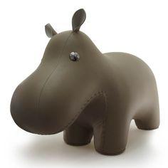 animaux ZÜNY tabouret HIPPO en similicuir, objet déco http://www.designers-avenue.com/fr/486-zuny