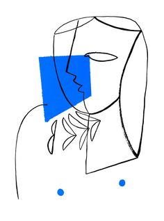 Abstract Illustration Portrait Of A Girl With Blue - Abstract Illustration Portrait Of A Girl With Blue Minimalist Painting Giclee Print Modern Geometric Art Poster Xcm Original Abstract Portrait Large Modern Art Painting By Fidostudio Wou Art Sketches, Art Drawings, Geometric Face, Minimalist Painting, Art Sketchbook, Line Art, Wall Art Prints, Art Photography, Illustration Art