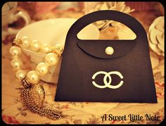 Chanel Inspired Purse Invitations {Chanel Logo is embossed on purse}