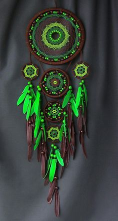 Dreamcatcher - is not just a fashion accessory for an ethnic interior. The Indians attributed this amulet to protect the ability of a sleeping person from evil spirits. This Indian mascot is a spiders web woven from deer lived and harsh thread. Cobweb stretched over a circle made