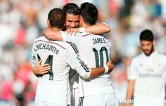 Tremendo trio: James, Ronaldo y Chicharito