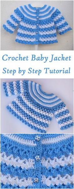 Baby Jacket Crochet Jearsy See other ideas and pictures from the category menu…. Crochet Baby Sweaters, Crochet Baby Cardigan, Baby Girl Crochet, Crochet Baby Clothes, Crochet Jacket, Baby Blanket Crochet, Crochet For Kids, Baby Knitting, Knit Crochet