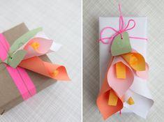 Genius paper calla lilies.