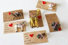 The animal options are endless with The Blue Robin Cottage's Will Zoo Be Mine? valentine.