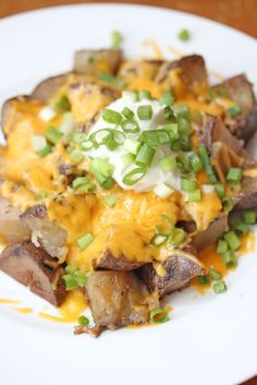 Loaded Slow Cooker Potatoes #recipe