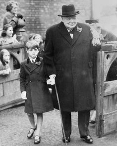 prime-minister-sir-winston-churchill with grandson nicholas soames
