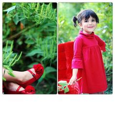 SnapWidget | Our Julie shoes and Cala dress coming in red with bell sleeves....