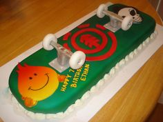 Skateboard cake     www.aspectsclothing.com