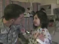 "Soldier Surprises Daughter in Hospital ""Published on Jan 9, 2014 From original submitter: ""This is a video of my brother coming home from Afghanistan back in early 2010. He had been gone for about a year. His daughter was in the hospital at the time. She had some health problems early in life, but she's been healthy since!"" -Josiah"""