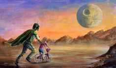 Boba Fett riding lesson. by BigRockGallery on Etsy https://www.etsy.com/listing/159490821/boba-fett-riding-lesson