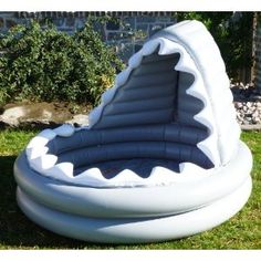 Could be a cool reading center! Pottery Barn Kids Inflatable Shark Kiddie Pool… - All For Backyard Ideas Inflatable Shark, Inflatable Island, Kiddie Pool, Shark Party, Pool Floats, Pool Toys, Water Toys, Cool Pools, Pottery Barn Kids