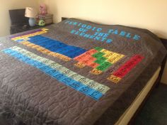 elemental periodic table sewing projects and hawaiian quilts - Periodic Table Of Elements Quilt