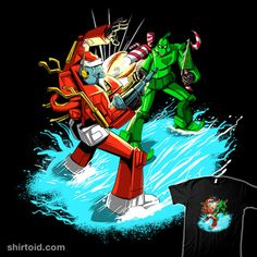 Santa Prime | Shirtoid #film #grinch #movies #robot #santa #santaclaus #thegrinch #transformers #zascanauta