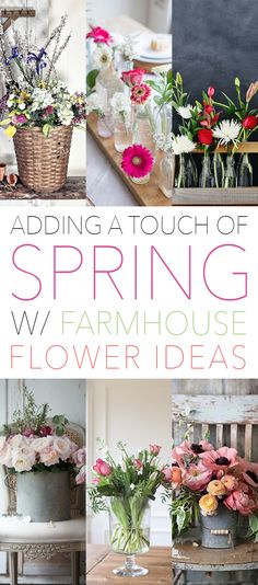 Adding a Touch of Spring with Farmhouse Flower Ideas | The Cottage Market | Bloglovin'