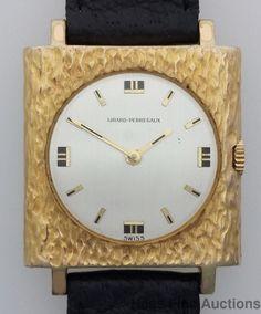Girard Perregaux 17J Vintage Bark Textured Bezel Wrist Watch #GirardPerregaux