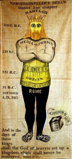 Josephine Lawson Prophecy Chart, Colossus of Daniel 2,  1917