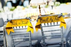 so many uses, just adjust to your colors and theme, party chair banners